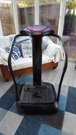 For sale Gym Master Vibration Plate with fitness bands and operation manual