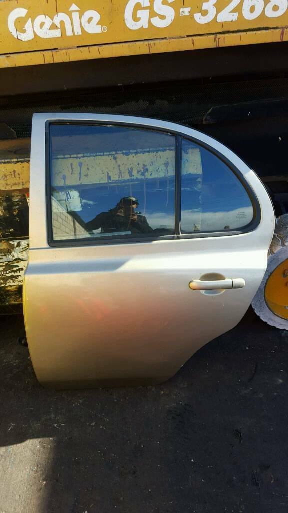 NISSAN MICRA REAR PASSENGER SIDE DOOR