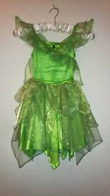 Original Disney Tinkerbell Dress age 5-6 with shoes