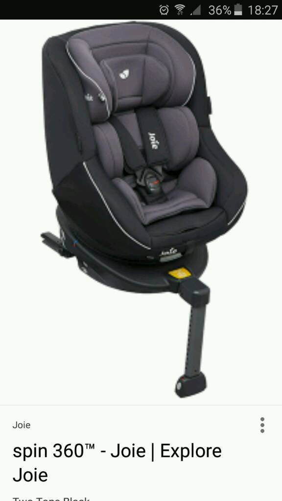 Joie 360 spin baby car seat