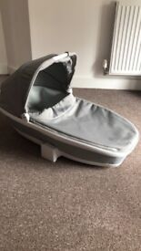 Grey Gravel Quinny Foldable Carrycot