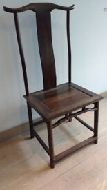 Set of 12 Chinese style Walnut dining chairs