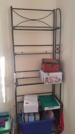 Beautiful Wrought Iron and Glass Book Case, 2m high, 60cm wide