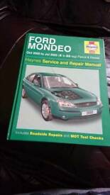 FORD MONDEO MK3 HAYNES SERVICE AND REPAIR MANUAL FOR MODELS FROM OCTOBER 2000 TO JULY 2003