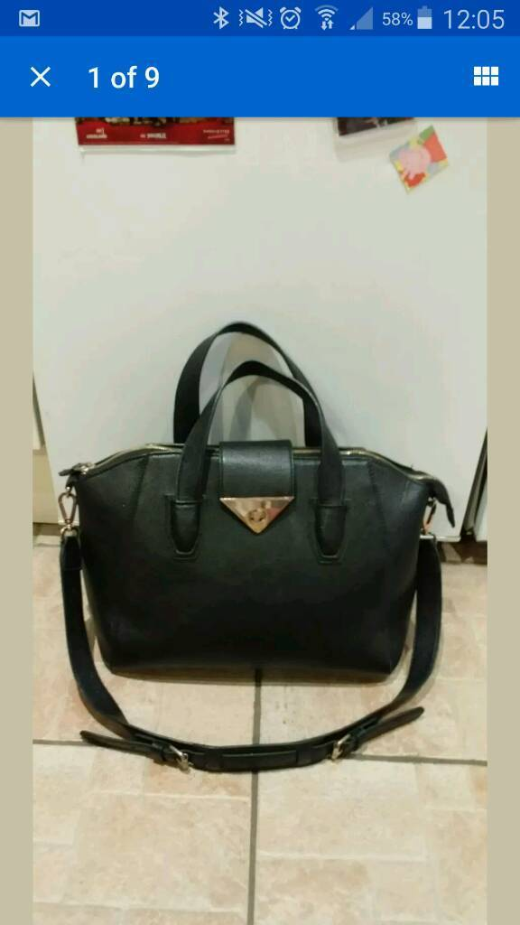 Topshop leather look bag. Great condition. Big strap and handles.