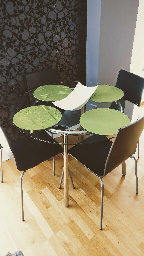IKEA SALMI Glass Dining Table set in Cambridge Cambridgeshire