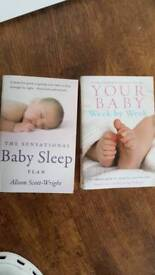 Baby sleep plan and Your baby week by week books
