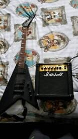 Electric Guitar And Amp - Vintage Metal Axxe Collection, York £125 For Both