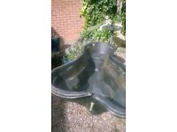 6ft x 4ft moulded fish pond.summer bargain.delivery at cost telford.£30.00