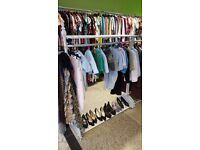 4 Ft Shabby style clothes rail display