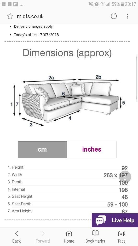 Granite colour lshape sofa