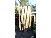 Garden Gate, Post and Post Spike (Excellent Condition)