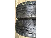 2X 225 50 17 (94H) Pirelli SottoZero RUN FLAT Tread 5.5 mm for £59 Only