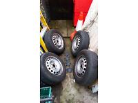 "Steel wheel car rim set - Genuine Volkswagon 15"""