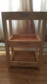 Wooded food storage rack