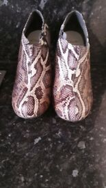 Clarks snakeskin ankle boots 5.5
