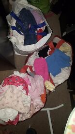 3 bags of baby girl clothes