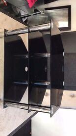 For sale 3 tier black glass tv unit