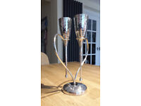 Beautiful Champagne flutes, centrepiece, love glasses, wedding toast, wedding / anniversary gift