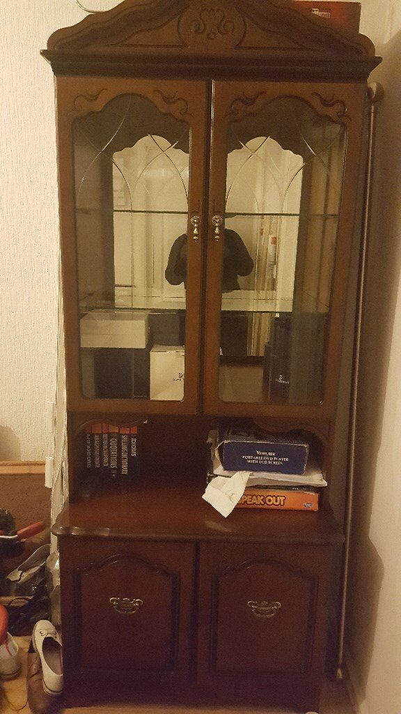 2 Mahogany Display Cabinets