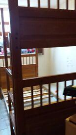 Ikea wooden bunk bed
