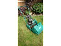 Suffolk Punch Petrol Lawnmower & Scarifier