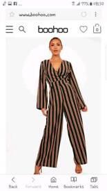 Boohoo trendy wide leg jumpsuit size 14