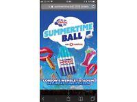 2 Summertime ball tickets, pitch standing