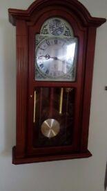 Wood case wall clock
