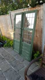 2 Shed doors with glass panels