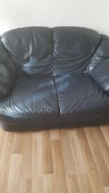 leather suite with extra 2 seater