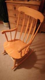 Traditional solid wood pine spruce rocking chair