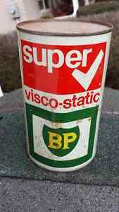 Rare Vintage BP Oil Super visco-static full oil can 10w40 Cambridge Kitchener Area image 3