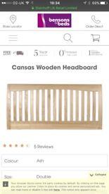 Solid wooden king size headboard