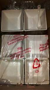 Ceramic Soup Bowls With Spoons Set of 4 Brand New For Sale Melbourne CBD Melbourne City Preview