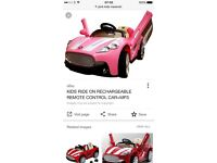 Pink Maserati ride on car for 4+