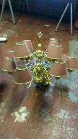 Brass Chandler light for pub or restaurant