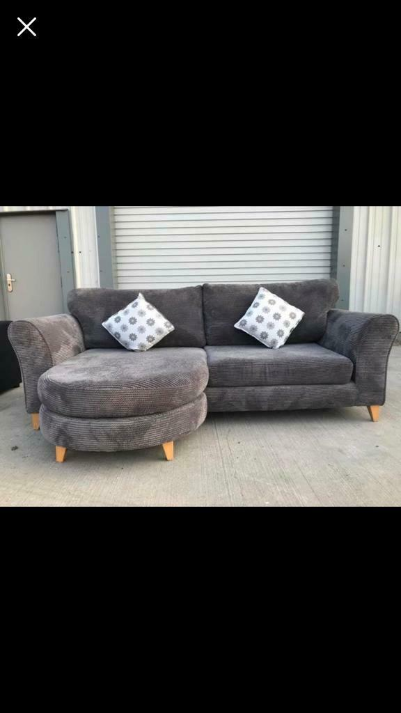 Grey fabric corner sofa/suites/couches FREE DELIVERY   in ...