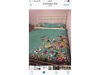 Original bedstead company king size/5ft bed and mattress