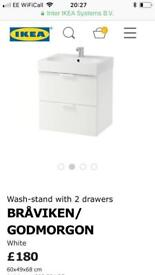 New Ikea bathroom sink unit