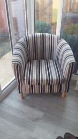 Chair stripe tub