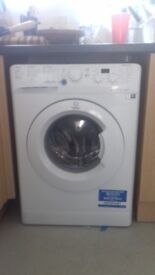 Indesit XWD71452W Freestanding Washing Machine, 7kg Load, A++ Energy Rating, 1400rpm Spin, White