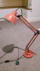 Pale orange lamp