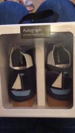 M&S boys leather pram shoes - brand new