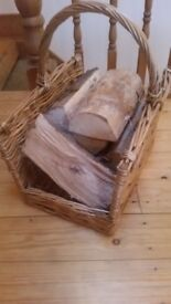 Log basket including logs!