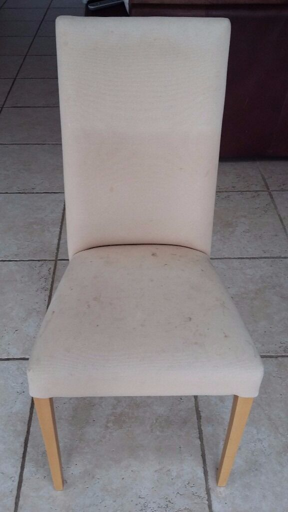 For Sale - 6 Dining room chairs with beech legs, need recovering ...