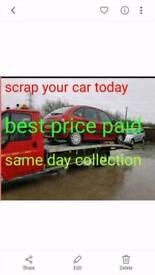 We buy scrap cars top prices paid