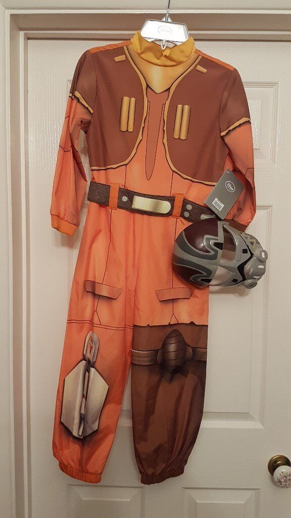 New Disney Store Star Wars Ezra outfit with plastic mask 5-6, 7-8, 9-10yrs
