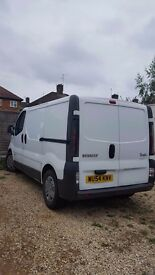 Renault Trafic white van with 2 extra seats in back