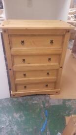 Puerto Rico 4 Drawer chest- light pine